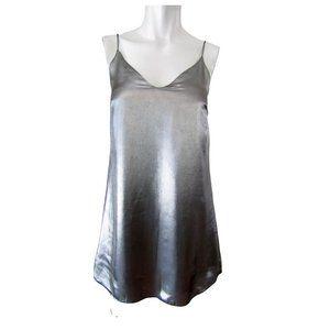 Wilfred Free Vivienne Gunmetal Slip Dress XS